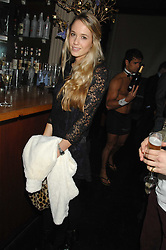 FLORENCE BRUDENELL-BRUCE at a leaving party for Poppy Delevigne who is going to New York to persue a career as an actress, held at Chloe, Cromwell Road, London on 25th January 2007.<br />