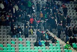 Supporters of Olimpija during football match between NK Olimpija Ljubljana and NK Celje in Round #19 of Prva liga Telekom Slovenije 2016/17, on November 30, 2016 in SRC Stozice, Ljubljana Slovenia. Photo by Vid Ponikvar / Sportida