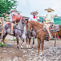 GUADALAJARA , MEXICO - SEP 01 : Charros participate at the 23rd International Mariachi & Charros festival in Guadalajara Mexico on September 01 , 2016.