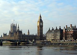 © Licensed to London News Pictures. 07/02/2012, Westminster, UK. General view of Parliament and Big Ben taken from the river today 07th February 2012.  Photo credit : Stephen Simpson/LNP