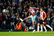 Ravel Morrison of West Ham United shoots at the Sheffield United goal during the Capital One Cup match at the Boleyn Ground, London<br /> Picture by David Horn/Focus Images Ltd +44 7545 970036<br /> 26/08/2014