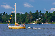 Sailing on Gerogian Bay<br /> Honey Harbour<br /> Ontario<br /> Canada