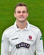 Head shot.  Tim Rouse wearing the Somerset Specsavers County Championship kit at the media day at Somerset County Cricket Club at the Cooper Associates County Ground, Taunton, United Kingdom on 11 April 2018. Picture by Graham Hunt.