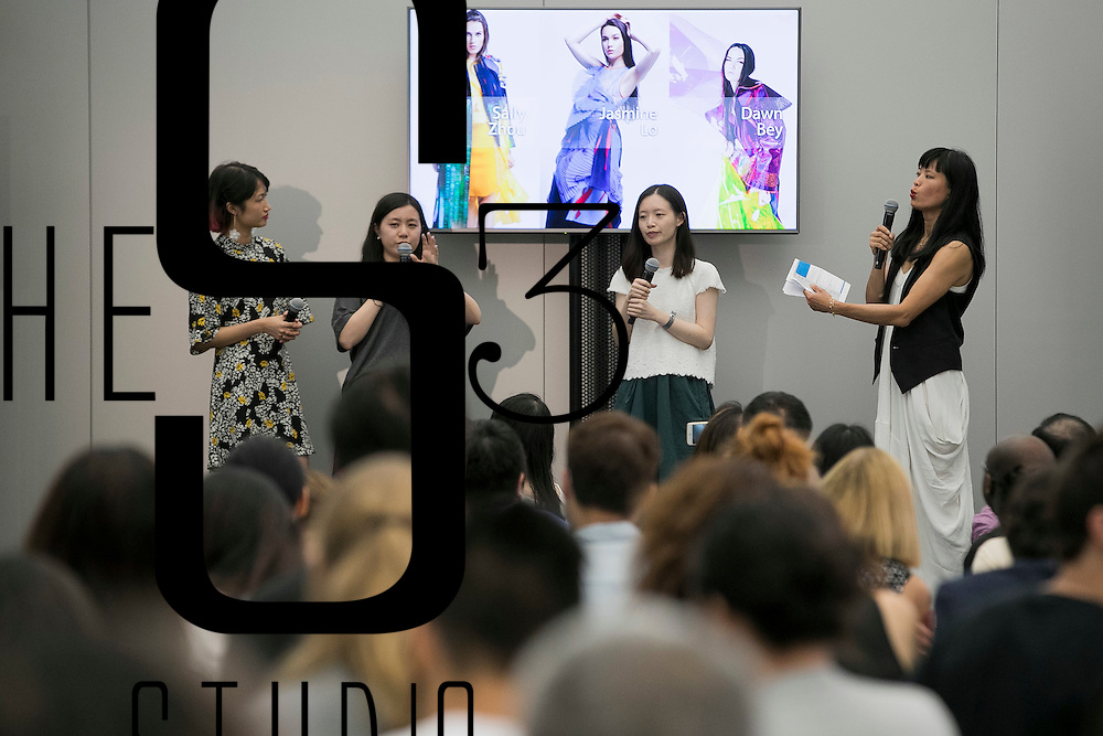 Models walk the runway during the Future Fashion Trends with Comma Showcase at the Apple Store, Canton Road, on 22 June, 2016 in Hong Kong, China. Photo by Victor Fraile / studioEAST