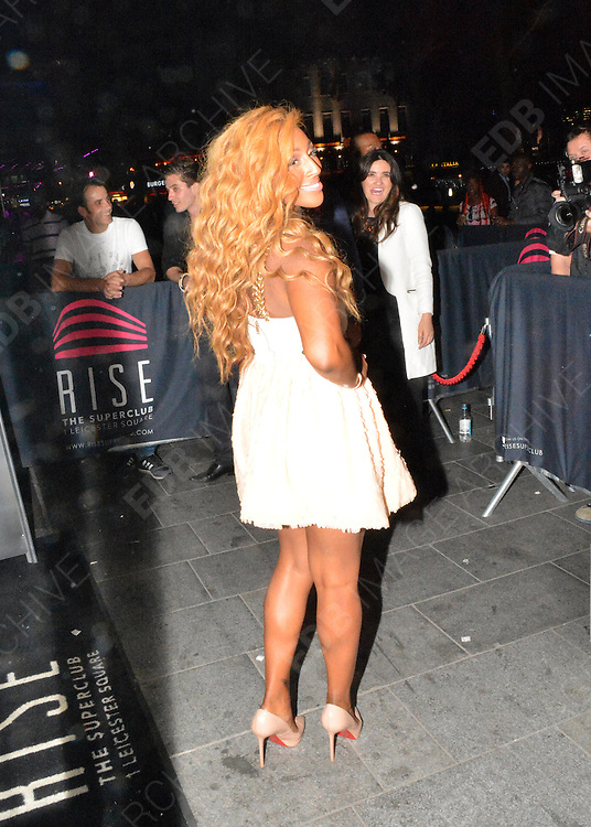 29.AUGUST.2013. LONDON<br /> <br /> ALEXANDRA BURKE CELEBRATES HER BIRTHDAY AT THE RISE SUPERCLUB IN LEICESTER SQUARE, LONDON<br /> <br /> BYLINE: EDBIMAGEARCHIVE.CO.UK<br /> <br /> *THIS IMAGE IS STRICTLY FOR UK NEWSPAPERS AND MAGAZINES ONLY*<br /> *FOR WORLD WIDE SALES AND WEB USE PLEASE CONTACT EDBIMAGEARCHIVE - 0208 954 5968*