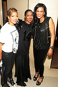 5 April 2014 - Washington, DC: (L-R) Recording Artist/Media Personality MC Lyte, Recording Artist Ms. Lauryn Hill and DJ Beverly Bond, Founder, Black Girls Rock backstage at the launch of ROCK! LIKE A GIRL Inside at the One Mic Hip Hop Festival held at the John F. Kennedy for the Performing Arts on April 5, 2014 in Washington, D.C.  (Terrence Jennings)