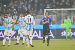 "Foto Filippo Rubin<br /> 06/01/2018 Ferrara (Italia)<br /> Sport Calcio<br /> Spal - Lazio - Campionato di calcio Serie A 2017/2018 - Stadio ""Paolo Mazza""<br /> Nella foto: QUARTO GOAL CIRO IMMOBILE (LAZIO)<br /> <br /> Photo by Filippo Rubin<br /> January 06, 2018 Ferrara (Italy)<br /> Sport Soccer<br /> Spal vs Lazio - Italian Football Championship League A 2017/2018 - ""Paolo Mazza"" Stadium <br /> In the pic: FOURTH GOAL CIRO IMMOBILE (LAZIO)"