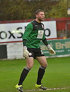 Accrington Stanley Goalkeeper, Jason Mooney in action  during the Sky Bet League 2 match between Accrington Stanley and Newport County at the Fraser Eagle Stadium, Accrington, England on 14 November 2015. Photo by Mark Pollitt.