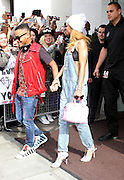17.JUNE.2013. LONDON<br /> <br /> RIHANNA AND YOUNGER BROTHER RAJAD FENTY LEAVING THERE LONDON HOTEL ALONG WITH THEIR MUM MONICA  BRAITHWAITE.<br /> <br /> BYLINE: EDBIMAGEARCHIVE.CO.UK<br /> <br /> *THIS IMAGE IS STRICTLY FOR UK NEWSPAPERS AND MAGAZINES ONLY*<br /> *FOR WORLD WIDE SALES AND WEB USE PLEASE CONTACT EDBIMAGEARCHIVE - 0208 954 5968*
