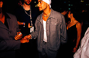 DJ Armand Van Helden shakes the hand of a fan, Ibiza, 1990s.