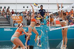 20180718 NED: CEV DELA Beach Volleyball European Championship day 4<br />Sanne Keizer (1), Madelein Meppelink (2) of The Netherlands <br />©2018-FotoHoogendoorn.nl