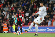 Manchester United Defender Chris Smalling during the Premier League match between Bournemouth and Manchester United at the Vitality Stadium, Bournemouth, England on 18 April 2018. Picture by Phil Duncan.