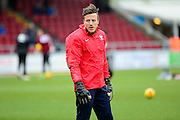 York City Goalkeeper Scott Flinders during the Sky Bet League 2 match between Northampton Town and York City at Sixfields Stadium, Northampton, England on 6 February 2016. Photo by Dennis Goodwin.