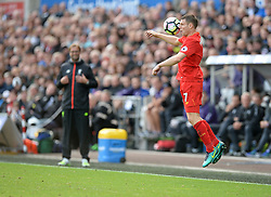 James Milner of Liverpool controls the ball. - Mandatory by-line: Alex James/JMP - 01/10/2016 - FOOTBALL - Liberty Stadium - Swansea, England - Swansea City v Liverpool - Premier League