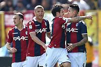 Esultanza gol Erick Pulgar Bologna Goal celebration <br /> Bologna 31-03-2018 Stadio Dall'Ara Football Calcio Serie A 2017/2018 Bologna - AS Roma. Foto Andrea Staccioli / Insidefoto