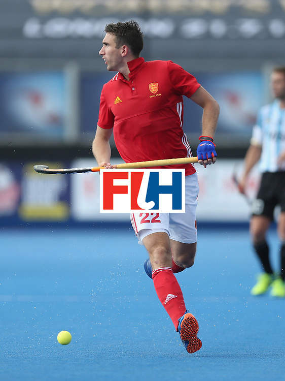 LONDON, ENGLAND - JUNE 18:  David Condon of England during the Hero Hockey World League Semi-Final match between England and Argentina at Lee Valley Hockey and Tennis Centre on June 18, 2017 in London, England.  (Photo by Alex Morton/Getty Images)