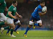 Cardiff, Wales, Great Britain, Wesley FOFANA, during the Pool D game, France vs Ireland.  2015 Rugby World Cup,  Venue, Millennium Stadium, Cardiff. Wales   Sunday  11/10/2015.   [Mandatory Credit; Peter Spurrier/Intersport-images]