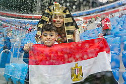 June 19, 2018 - Saint Petersburg, Russia - Egypt supporters ahead of the 2018 FIFA World Cup Russia group A match between Russia and Egypt on June 19, 2018 at Saint Petersburg Stadium in Saint Petersburg, Russia. (Credit Image: © Mike Kireev/NurPhoto via ZUMA Press)