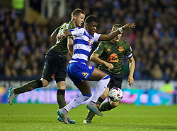 READING, ENGLAND - Tuesday, September 22, 2015: Reading's Aaron Tshibola in action against Everton during the Football League Cup 3rd Round match at the Madejski Stadium. (Pic by David Rawcliffe/Propaganda)