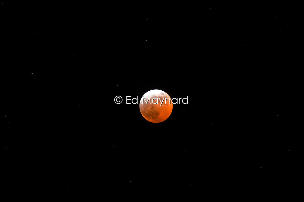 Lunar eclipse, viewed from Leicester, UK.