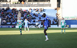 Frank Nouble of Colchester United contols the ball - Mandatory by-line: Arron Gent/JMP - 08/02/2020 - FOOTBALL - JobServe Community Stadium - Colchester, England - Colchester United v Plymouth Argyle - Sky Bet League Two