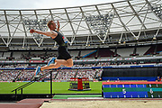 Greg Rutherford of Great Britain's last jump in the Men's Long Jump during the Muller Anniversary Games, Day Two, at the London Stadium, London, England on 22 July 2018. Picture by Martin Cole.