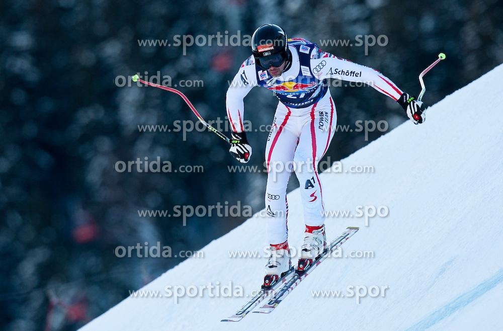 18.01.2012, Hahnenkamm, Kitzbuehel, AUT, FIS Weltcup Ski Alpin, 72. Hahnenkammrennen, Herren, Abfahrt 2. Training, im Bild Joachim Puchner (AUT) // Joachim Puchner of Austria during Downhill 2nd practice of 72th Hahnenkammrace of FIS Ski Alpine World Cup at 'Streif' course in Kitzbuhel, Austria on 2012/01/18. EXPA Pictures © 2012, PhotoCredit: EXPA/ Johann Groder