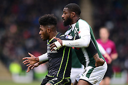 Ellis Harrison of Bristol Rovers holds off Yann Songo'o of Plymouth Argyle - Mandatory by-line: Dougie Allward/JMP - 17/03/2018 - FOOTBALL - Home Park - Plymouth, England - Plymouth Argyle v Bristol Rovers - Sky Bet League One