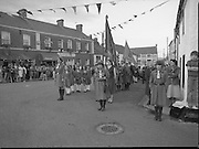 """The Carlingford Oyster Festival.1982.19.08.1982..08.19.1982.19th August 1982..Pictures and Images of the Carlingford Oyster Festival... The Minister For Fisheries and Forestry Mr Brendan Daly officially opened  The Carlingford Oyster Festival. The Chairman of the organising committee was Mr. Joe McKevitt..""""The Oyster Pearl"""" was Ms Deirdre McGrath.. The local Girl Guides await the Ministers arrival."""