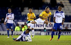 Jay Spearing of Bolton Wanderers is fouled by Tom Soares of Bury - Mandatory by-line: Robbie Stephenson/JMP - 24/10/2016 - FOOTBALL - Gigg Lane - Bury, England - Bury v Bolton Wanderers - Sky Bet League One