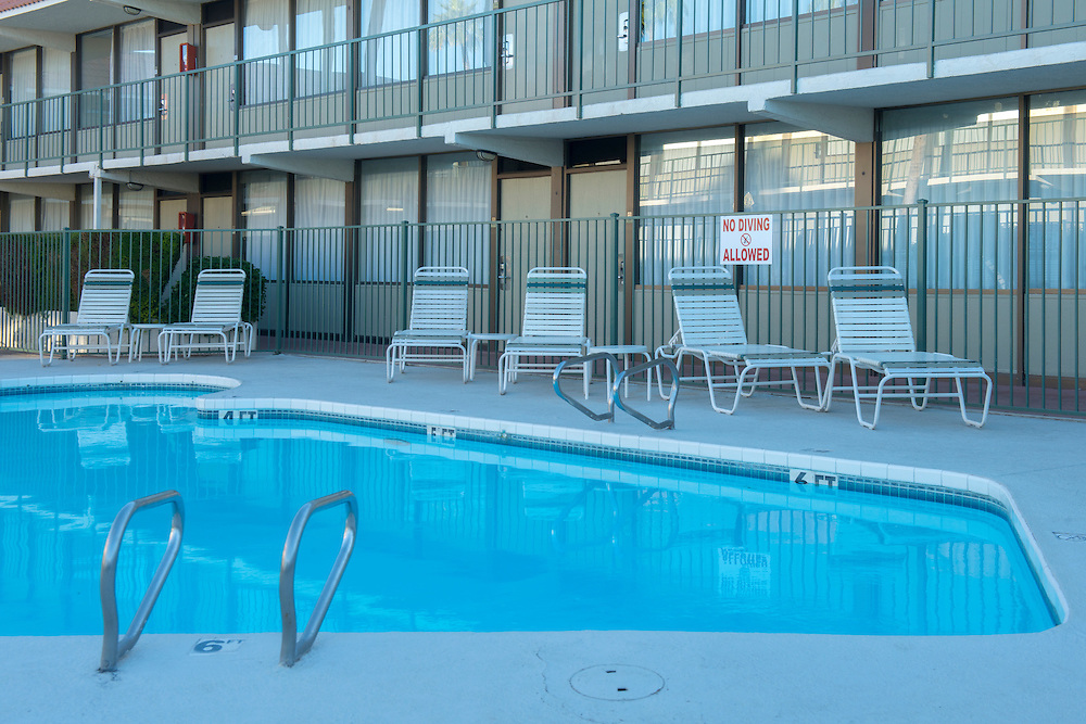 USA, Arizona, Southwest,Phoenix, Mesa, motel, lodging, motel pool