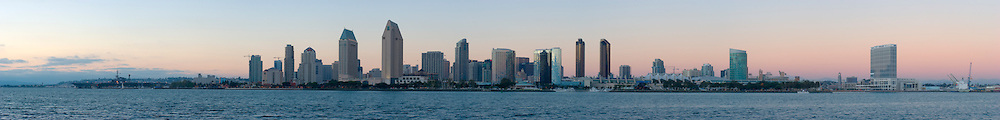 San Diego Skyline Panoramic, Coronado Island, California