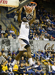 December 28, 2009; Berkeley, CA, USA;  California Golden Bears forward Theo Robertson (24) dunks against the Utah Valley Wolverines during the second half at the Haas Pavilion.  California defeated Utah Valley 85-51.