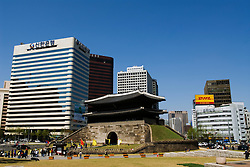 Namdaemun Gate in central Seoul in South Korea