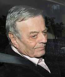 © Licensed to London News Pictures. 25/02/2016. Barnet, UK. Veteran DJ Tony Blackburn leaves his home after it was announced that he has been sacked by the BBC. Photo credit: Peter Macdiarmid/LNP