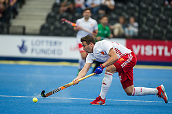 England's David Condon. England v The Netherlands - Semi Final - Hockey World League Semi Final, Lee Valley Hockey and Tennis Centre, London, United Kingdom on 24 June 2017. Photo: Simon Parker