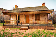The John Wood house, Grafton ghost town, Utah USA
