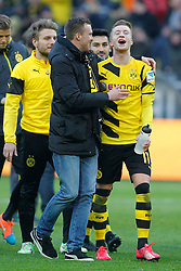 28.02.2015, Signal Iduna Park, Dortmund, GER, 1. FBL, Borussia Dortmund vs FC Schalke 04, 23. Runde, im Bild vl: Ciro Immobile (Borussia Dortmund #9), Kevin Grosskreutz (Borussia Dortmund #19), Ilkay Guendogan (Borussia Dortmund #8) und Marco Reus (Borussia Dortmund #11) // during the German Bundesliga 2rd round match between Borussia Dortmund and FC Schalke 04 at the Signal Iduna Park in Dortmund, Germany on 2015/02/28. EXPA Pictures © 2015, PhotoCredit: EXPA/ Eibner-Pressefoto/ EXPA/ PIXSELL/ Schüler-<br /> <br /> *****ATTENTION - OUT of GER*****