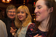 RICHARD EVANS;  ANNA BADDELEY; FLEUR MACDONALD;, The Omnivore hosts the third Hatchet  Job of the Year Award. Sponsored by the Fish Society.  The Coach and Horses. Greek st. Soho. London. 11 February 2014.