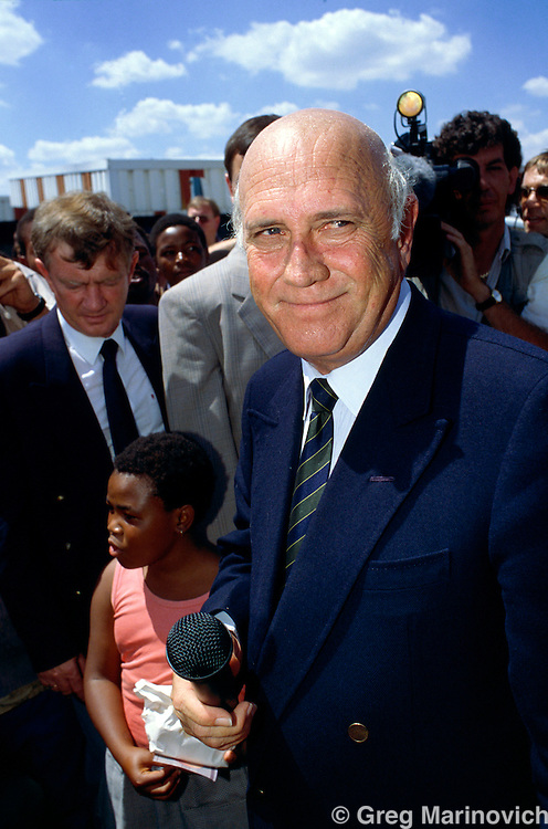FW de Klerk at a National Party rally, 1994, South Africa