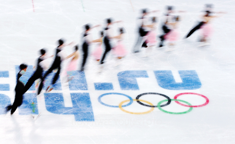 Alexandra Paul and Mitchell Islam of Canada perform during the Figure Skating Ice Dance Short Dance event at the Iceberg Palace during the Sochi 2014 Olympic Games in Sochi, Russia,16 February 2014.
