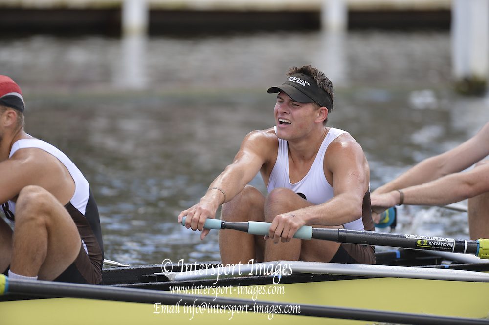 Henley, GREAT BRITAIN. Grand Challenge . Brown University USA. during his Friday heat. . 2012 Henley Royal Regatta. ..Friday  13:07:03  29/06/2012. [Mandatory Credit, Peter Spurrier/Intersport-images]...Rowing Courses, Henley Reach, Henley, ENGLAND . HRR.