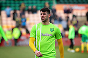 Norwich City striker Nelson Oliveira (9) warming up before the EFL Sky Bet Championship match between Norwich City and Ipswich Town at Carrow Road, Norwich, England on 18 February 2018. Picture by Nigel Cole.