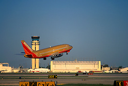 Southwest Airlines Airplane Taking Off From William P. Hobby Airport