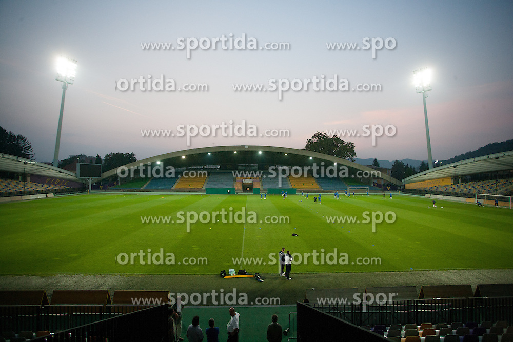 View on the pitch at practice before EURO U21 2013 Qualifications match against Sweden, on September 4, 2012 in Ljudski Vrt, Maribor, Slovenia. (Photo by Matic Klansek Velej / Sportida.com)