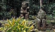 Archäologische Schätze, Steinstatuen, Hiva Oa, Französisch Polynesien * Aerchological treasures, stone statues, Hiva Oa, French Polynesia