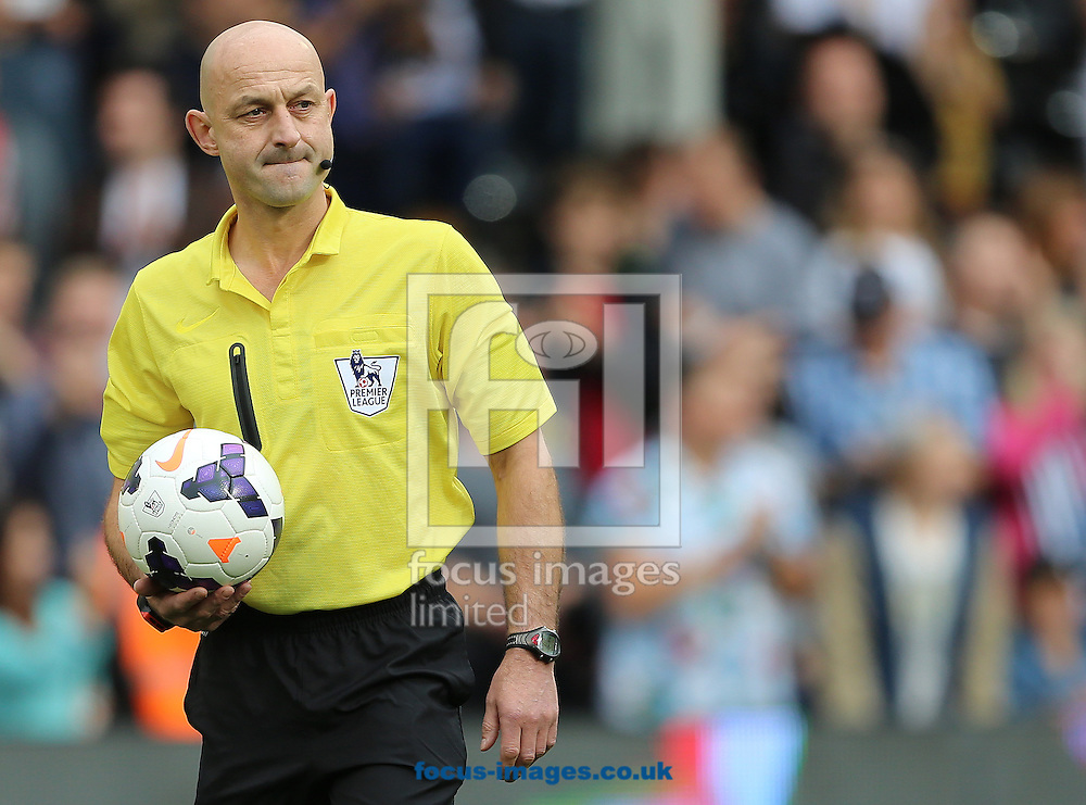 Picture by Richard Calver/Focus Images Ltd +447792 981244<br /> 05/10/2013<br /> Referee, Roger East during the Barclays Premier League match between Fulham and Stoke City at Craven Cottage, London.