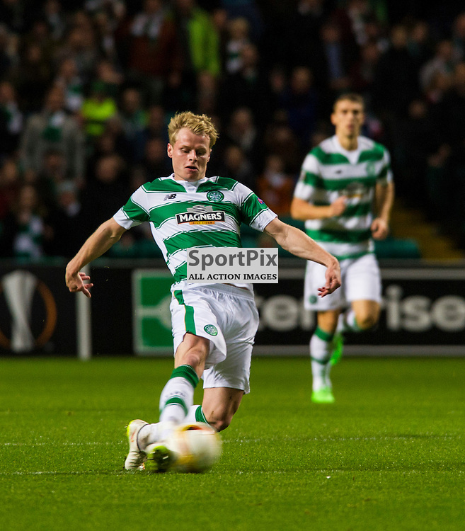 Gary Mackay-Stevens at full stretch as Celtic host Ajax at Parkhead in the Europa League.<br /> &copy; Ger Harley/ SportPix.org.uk 26 November 2015