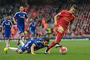 Philippe Coutinho (Liverpool) during the Barclays Premier League match between Liverpool and Chelsea at Anfield, Liverpool, England on 11 May 2016. Photo by Mark P Doherty.