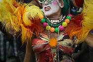 Samba drag queen performer on the Trem do Samba, Rio de Janeiro